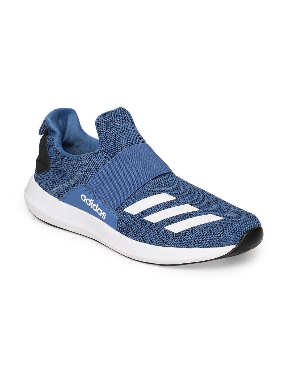 cheap for discount c9a28 4d250 ADIDAS Men Blue ZELT 2.0 Slip-on Running Shoes