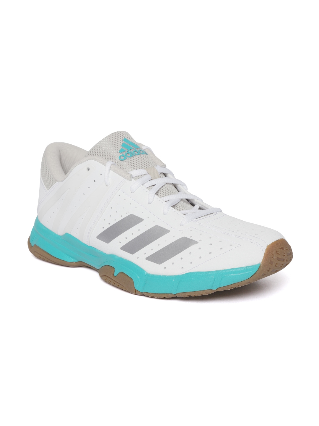 Buy ADIDAS Unisex White Badminton Shoes - Sports Shoes for Unisex ... 47cfd1af2