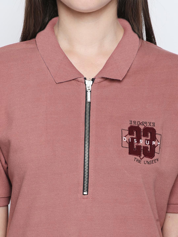 c4a19a9917e27 Buy Disrupt Women Pink Self Design T Shirt Dress - Dresses for Women ...