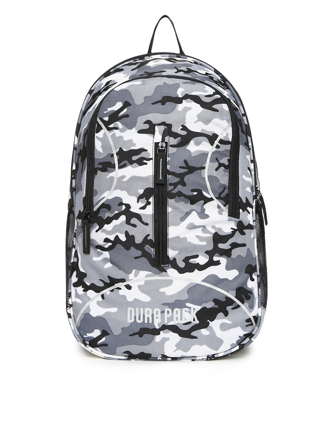 Durapack Unisex Grey   White Camouflage Print 15 Inch Laptop Backpack