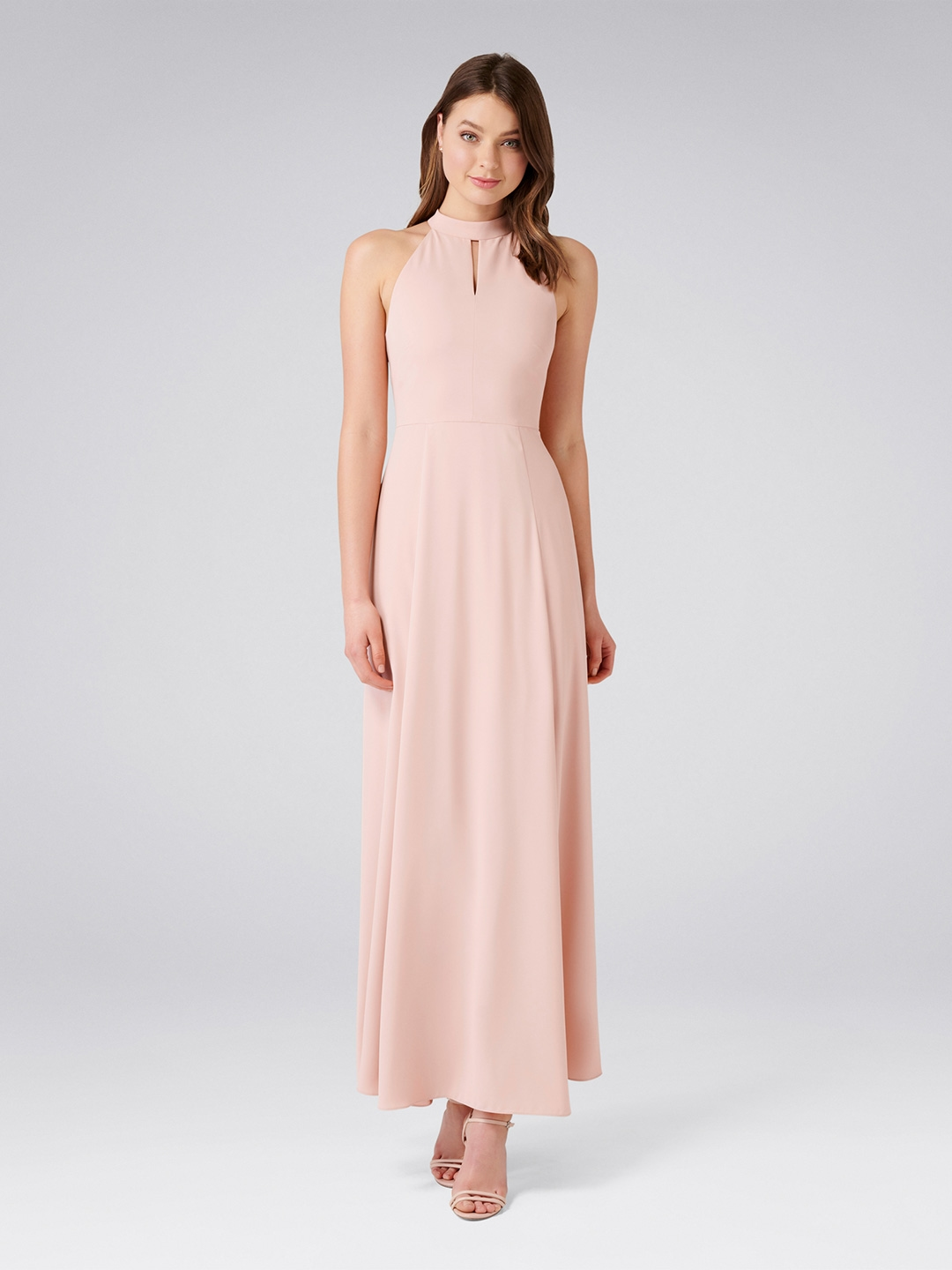 1e2cba494 Forever New Women Pink Solid Maxi Dress