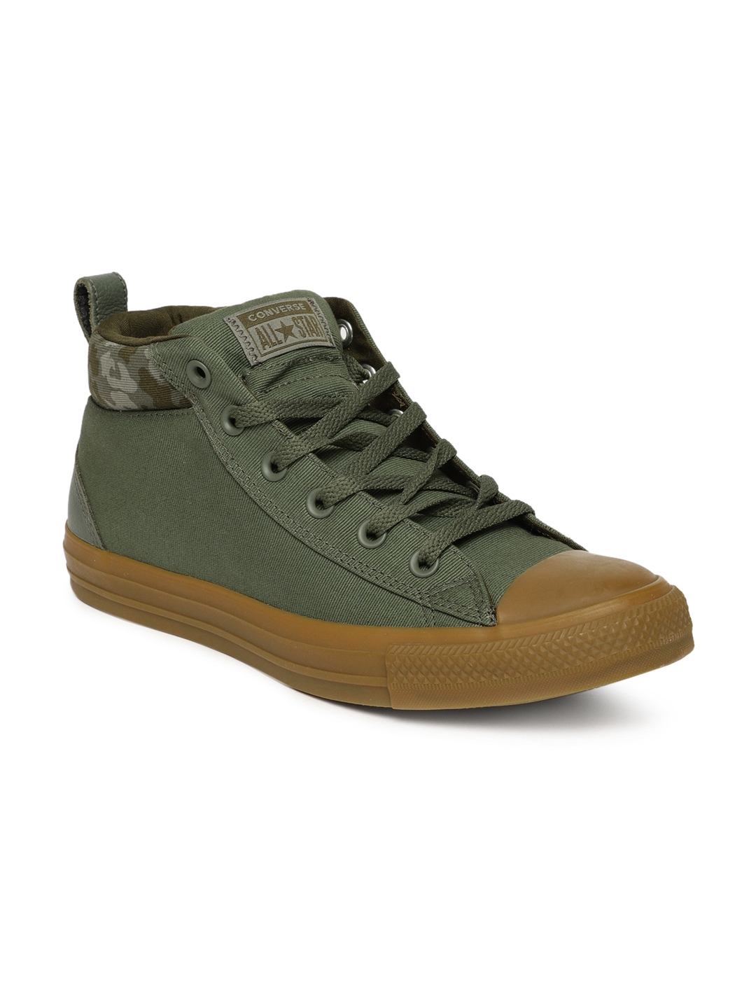Buy Converse Unisex Olive Solid Canvas