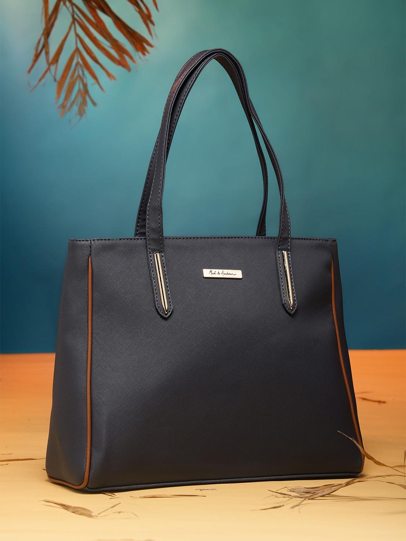 ceddd91e8cf0 Navy Blue Leather Handbag Tote | RT LTD