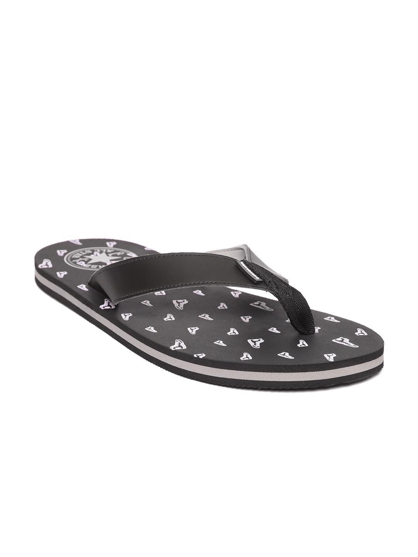 673991e62010 Buy Converse Men Black   White Printed Thong Flip Flops - Flip Flops ...