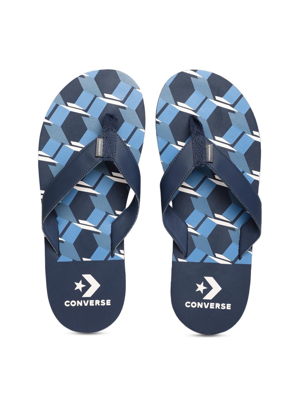 f3df238bb28d71 Buy Converse Men Navy Blue Printed Thong Flip Flops - Flip Flops for ...