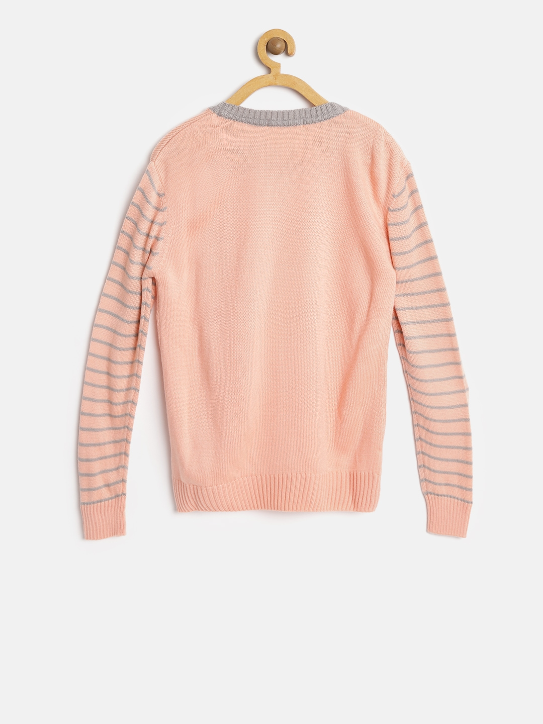 f9f7bdaddc0b Buy Wingsfield Girls Peach Coloured Printed Sweater - Sweaters for ...