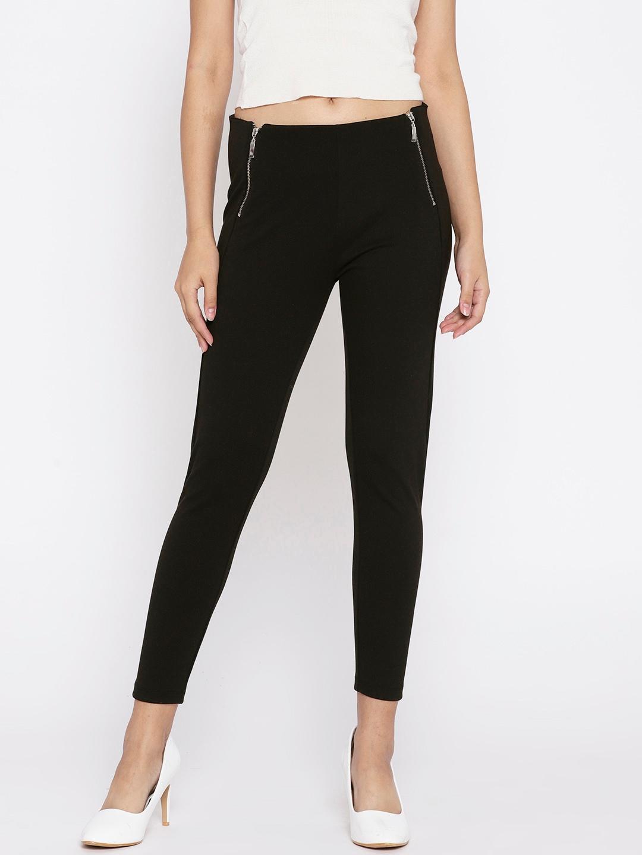 d3f5d4e419d7ff Buy Elle Black Solid Cropped Treggings - Jeggings for Women 6899576 ...