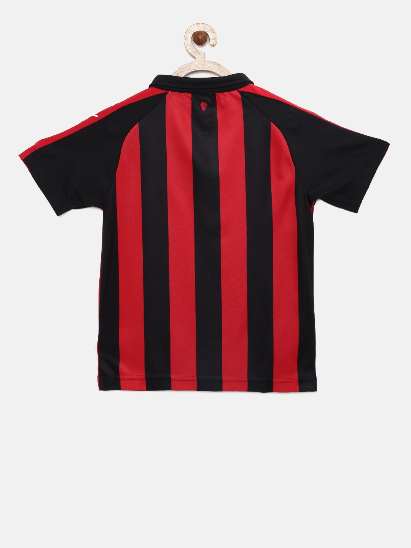 556151147fefdc Buy Puma Boys Red Striped AC Milan Home Polo Collar T Shirt ...