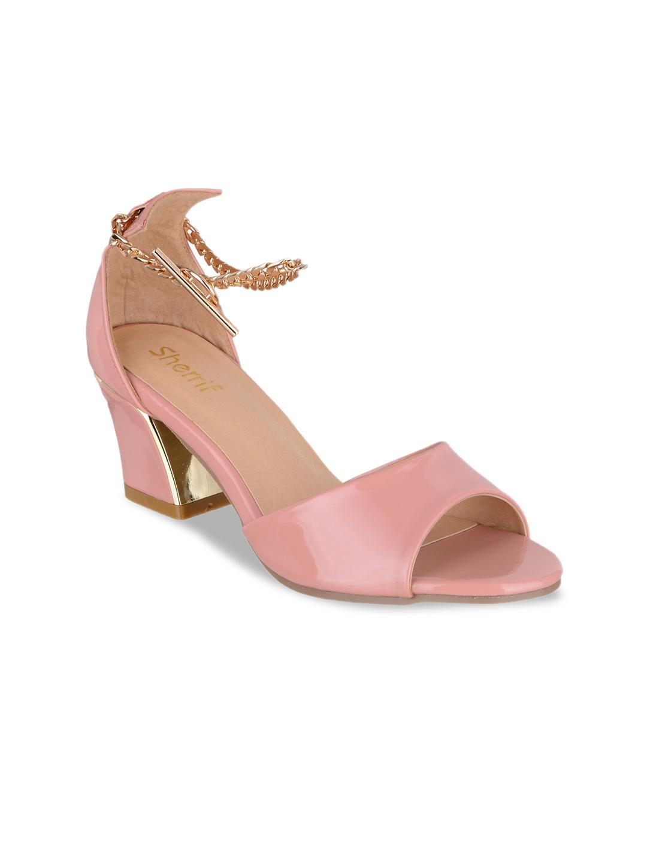 Shoes Women Heels Pink Solid Sherrif Sandals Buy 6913413 For