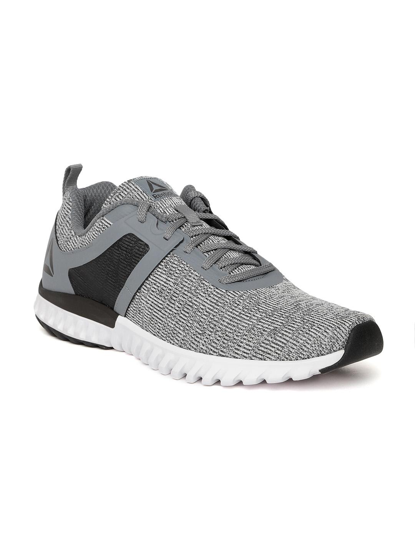 9f79dd7b6cc Buy Reebok Men White   Grey Jaquard Running Shoes - Sports Shoes for ...