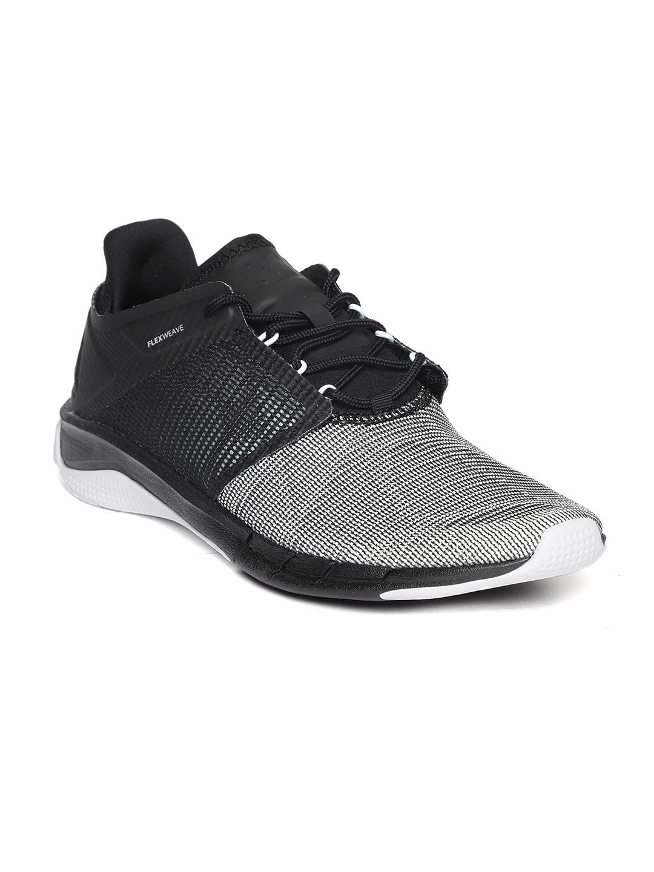 Buy Reebok Women Off White   Black Fast Flexweave Running Shoes ... e9df51dcb