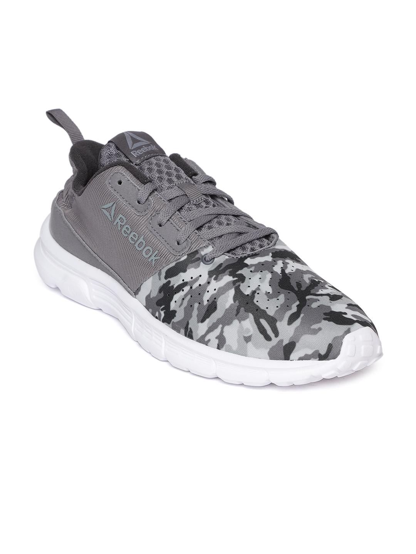 0bdf6111bf9f Buy Reebok Men Grey   Black Printed Aim MT Running Shoes - Sports ...