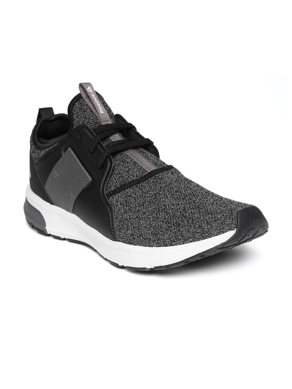 Buy Reebok Men Charcoal Grey Woven