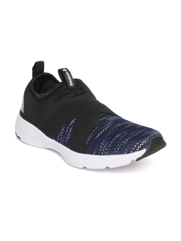 5a785b7584e332 Buy Reebok Men Navy Blue   Black Tread Leap Walking Slip On Shoes ...
