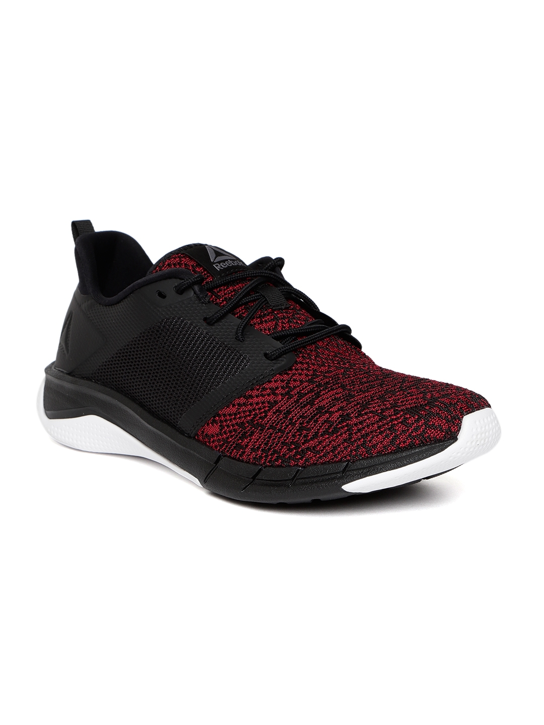 new product 4f664 ebe10 Reebok Men Red   Black Print 3.0 Running Shoes