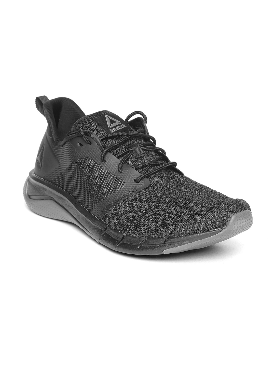 the best attitude a9730 43207 Reebok Men Black & Grey Print Run 3.0 Patterned Running Shoes