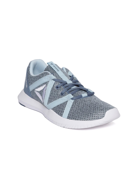 0922c4691c1b Buy Reebok Women Grey   Blue Reago Essential Training Shoes - Sports ...