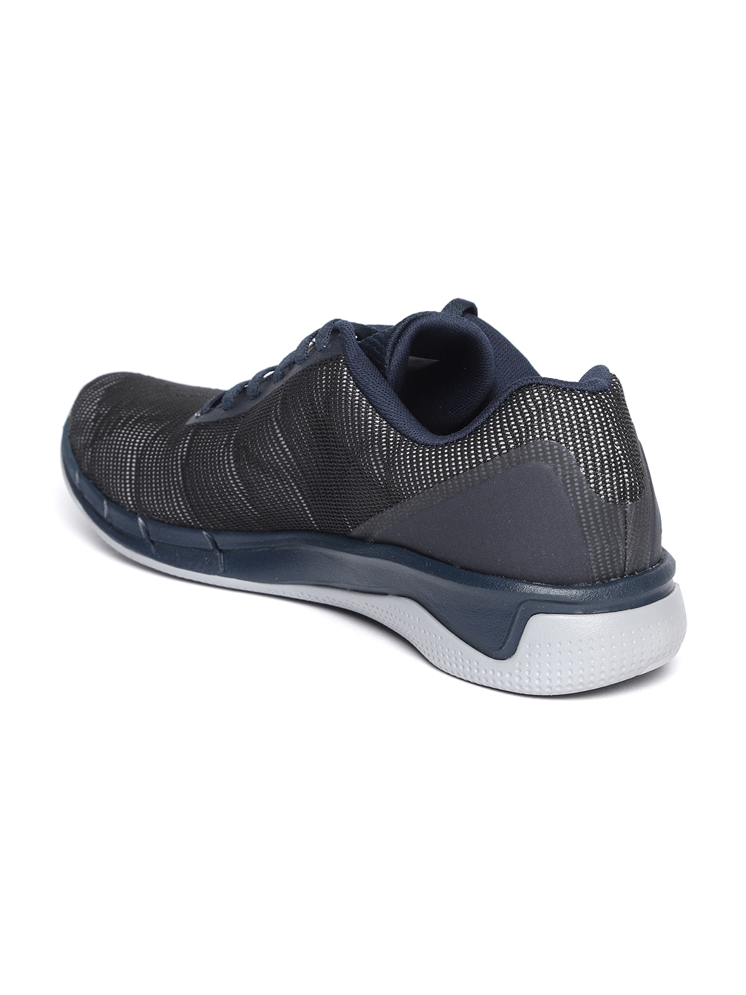 be4add92c82dd0 Buy Reebok Men Black   Navy Blue Fast Flexweave Running Shoes ...
