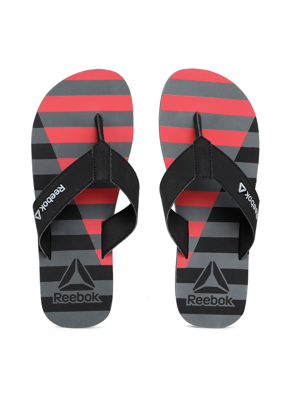 d03bfec624fe Buy Reebok Men Black   Pink Cayman LP Striped Thong Flip Flops ...