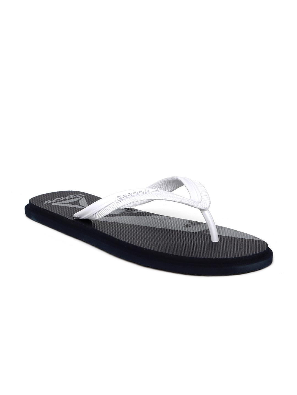7bfa383ed Buy Reebok Men Navy Blue   White Russel LP Printed Thong Flip Flops ...