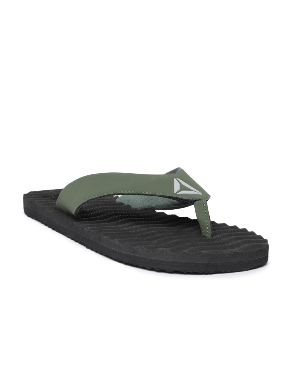 b1736ac0d Buy Reebok Men Green Solid FEZ Thong Flip Flops - Flip Flops for Men ...