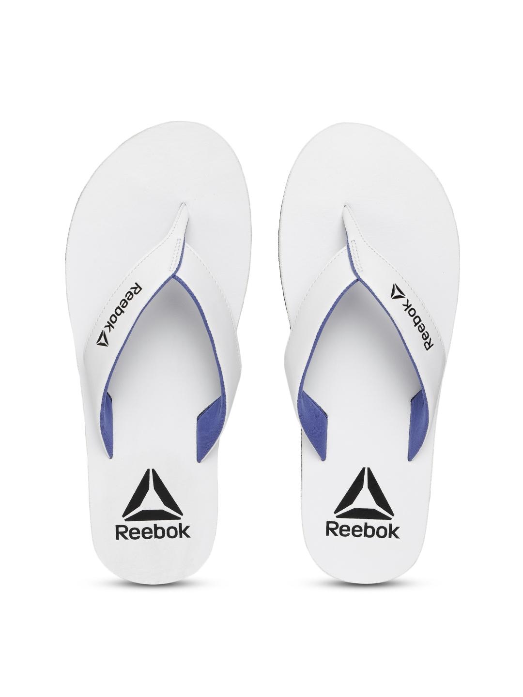 2efda8927ca7 Buy Reebok Men White Advent Solid Thong Flip Flops - Flip Flops for ...