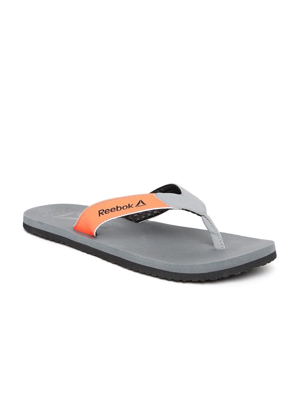 a23db2430ddd66 Buy Reebok Men Grey   Orange Core Solid Thong Flip Flops - Flip ...