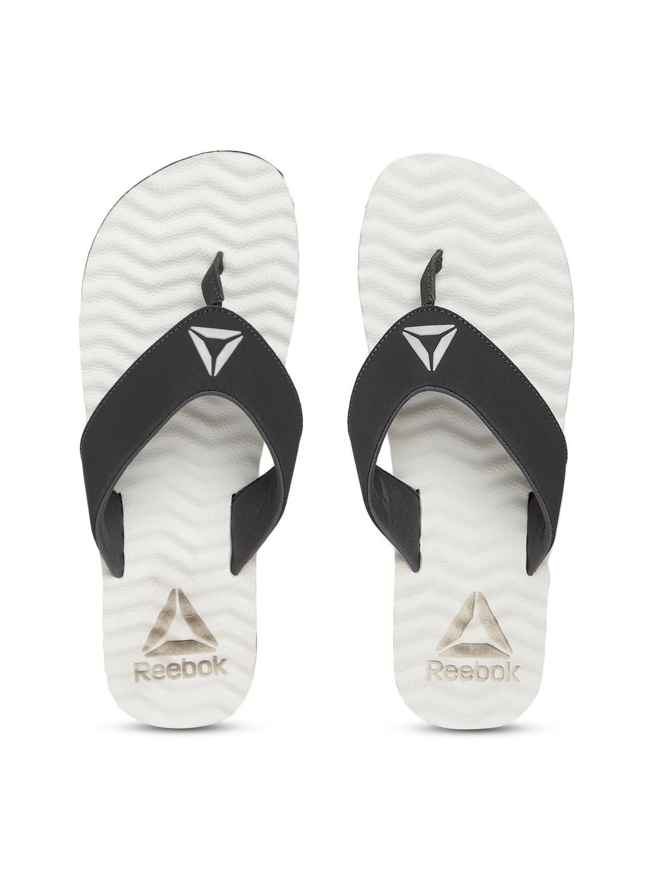 1becdac57d82e2 Buy Reebok Men Black   White FEZ LP Solid Thong Flip Flops - Flip ...