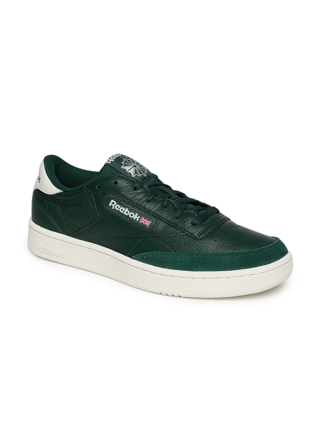 d60edaec81b Buy Reebok Classics Men Green CLUB C 85 MU Leather Sneakers - Casual ...