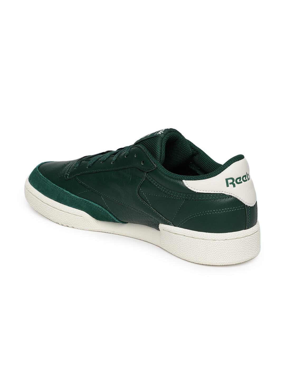 1f0f3d50a1d Buy Reebok Classics Men Green CLUB C 85 MU Leather Sneakers - Casual ...