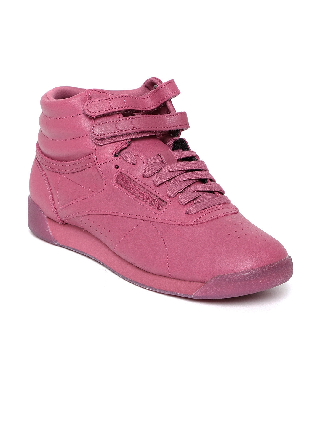 70ed292418a8 Buy Reebok Classic Women Pink Freestyle HI Suede Mid Top Sneakers ...