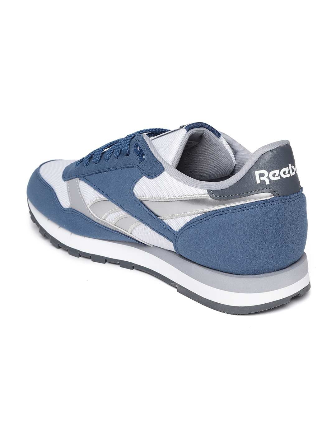 451154a36b501 Reebok Classic Men Teal Blue   White CL Leather RSP Colourblocked Sneakers