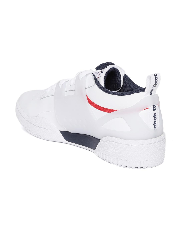 Buy Reebok Classic Men White Workout Advance L Sneakers - Casual ... 74ef5d365