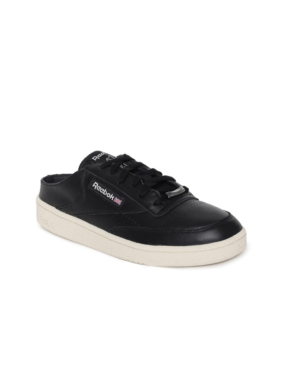 b3a0600fc31a1c Buy Reebok Classic Women Black Club C 85 Mule Sneakers - Casual ...