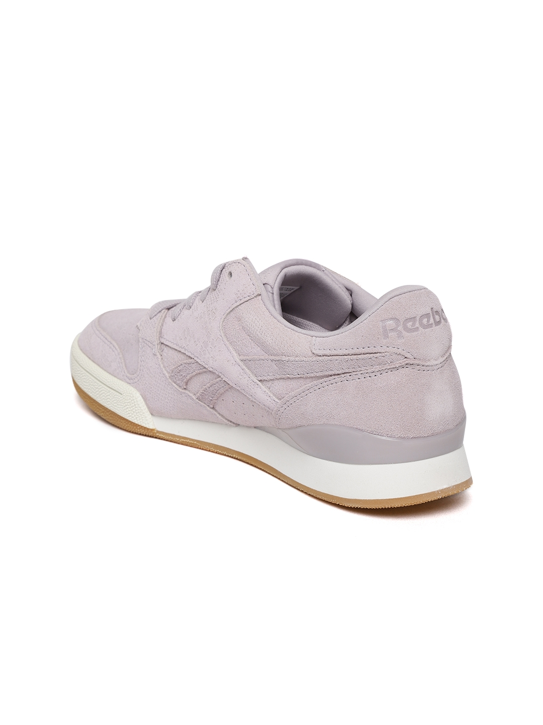 f6d28ab4cce8e3 Reebok Classic Women Lavender PHASE 1 PRO Snakeskin Texture Leather Sneakers