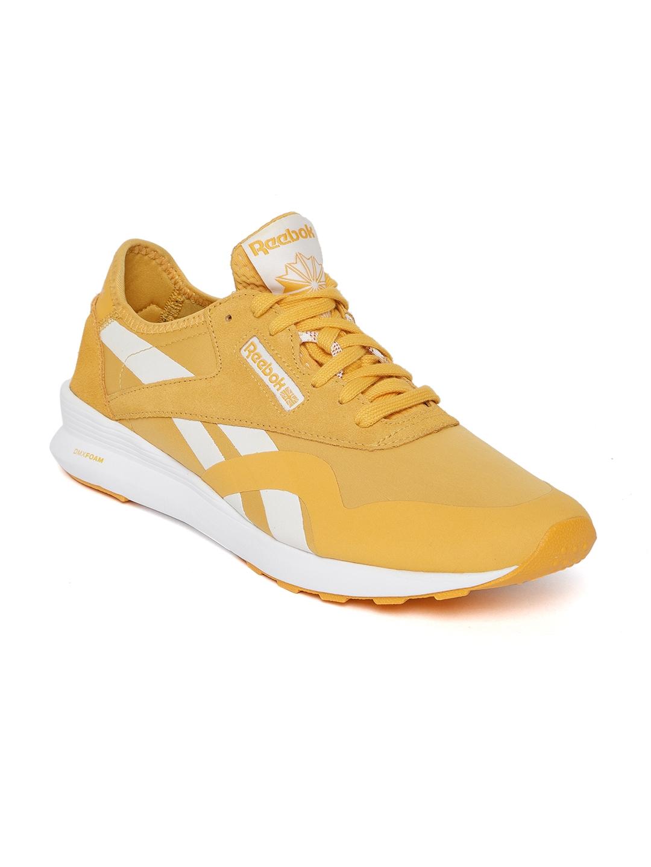 70362604ec5c5 Buy Reebok Classic Women Mustard Yellow Classic Nylon SP Sneakers ...