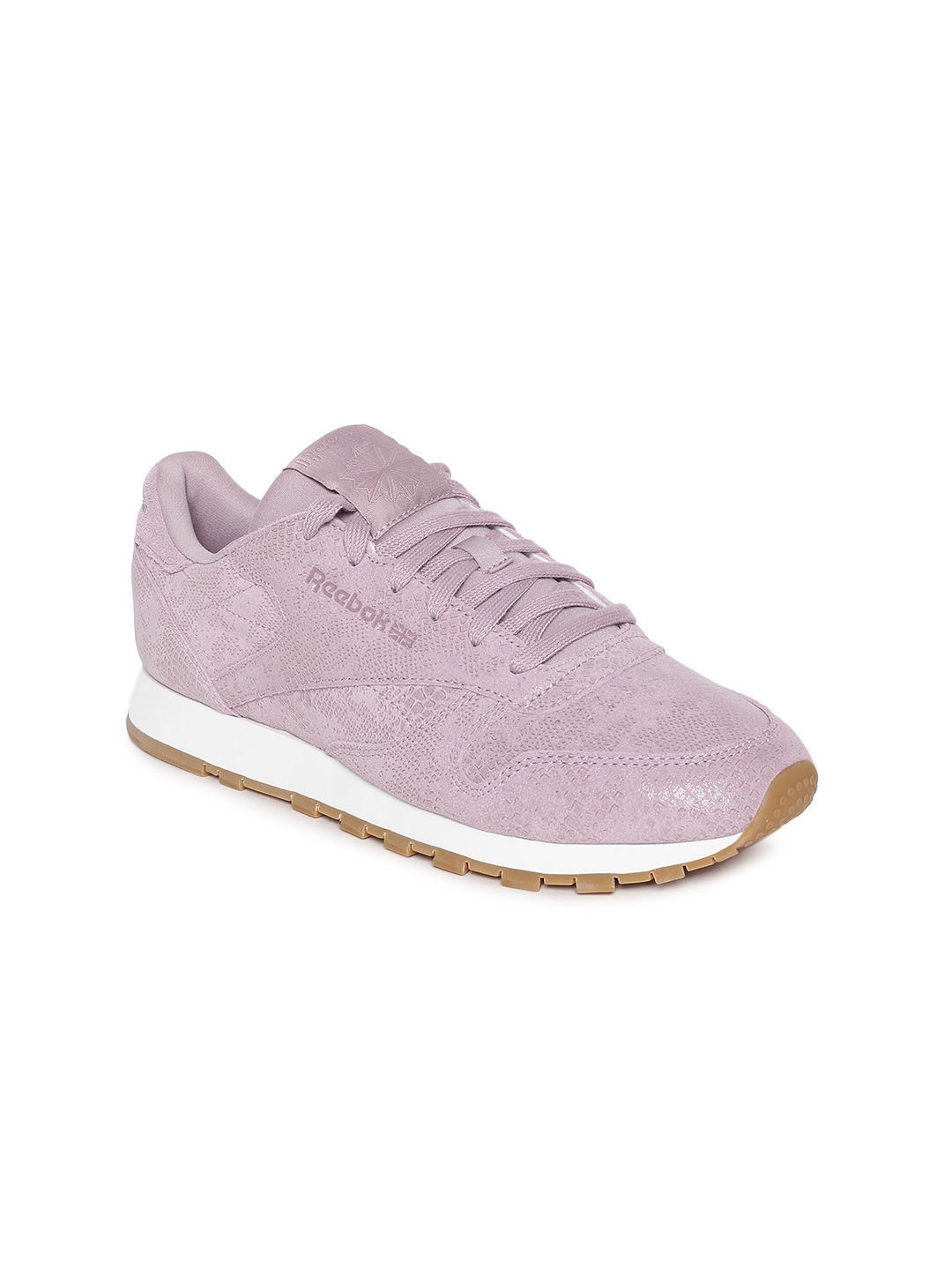 0f423a7256d55 Buy Reebok Classic Women Mauve CL Leather Sneakers - Casual Shoes ...