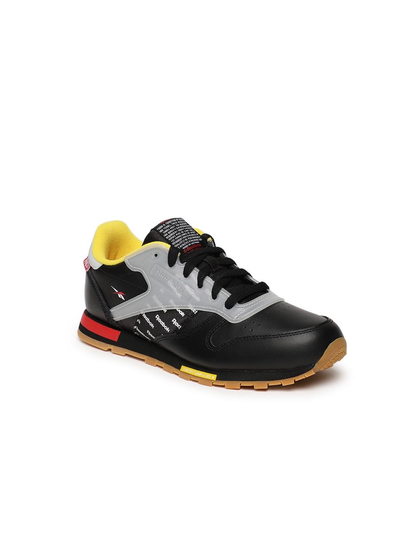 e915ca5df Buy Reebok Classic Boys Black   Grey Printed CL Leather ATI Sneakers ...