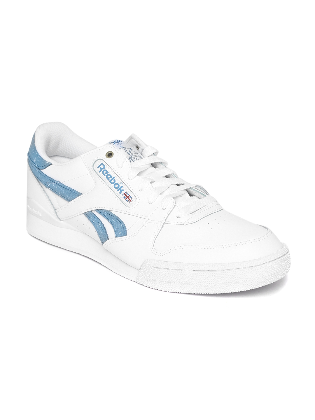 489d45fdedc Buy Reebok Classic Men White PHASE 1 PRO MU Leather Sneakers ...