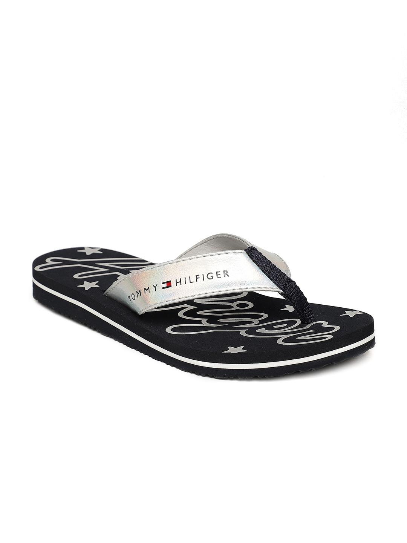 15cfde89e01cdd Buy Tommy Hilfiger Women Navy Blue Mirror Sparkle Beach Thong Flip ...