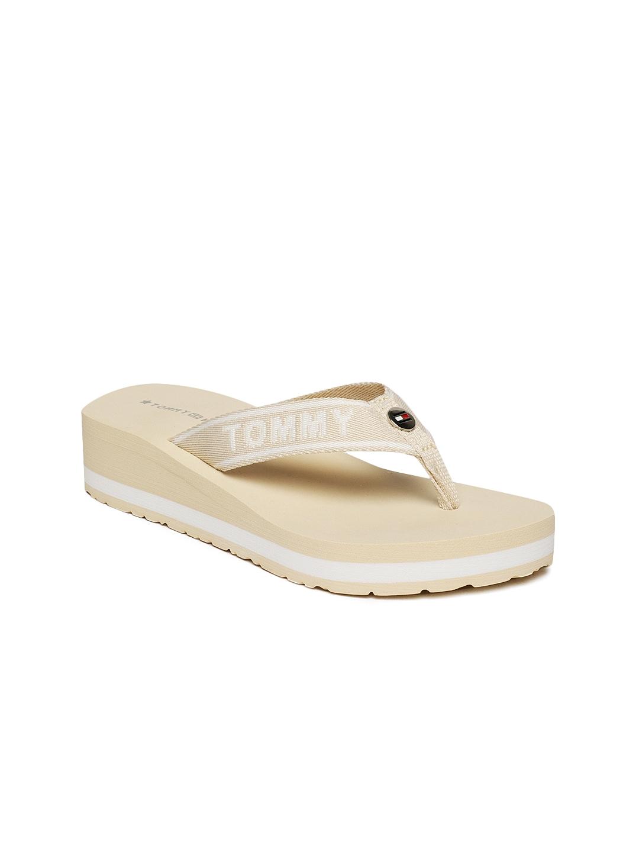 9c39a3423fee Buy Tommy Hilfiger Women Beige Beach Wedge Sandals - Heels for Women ...