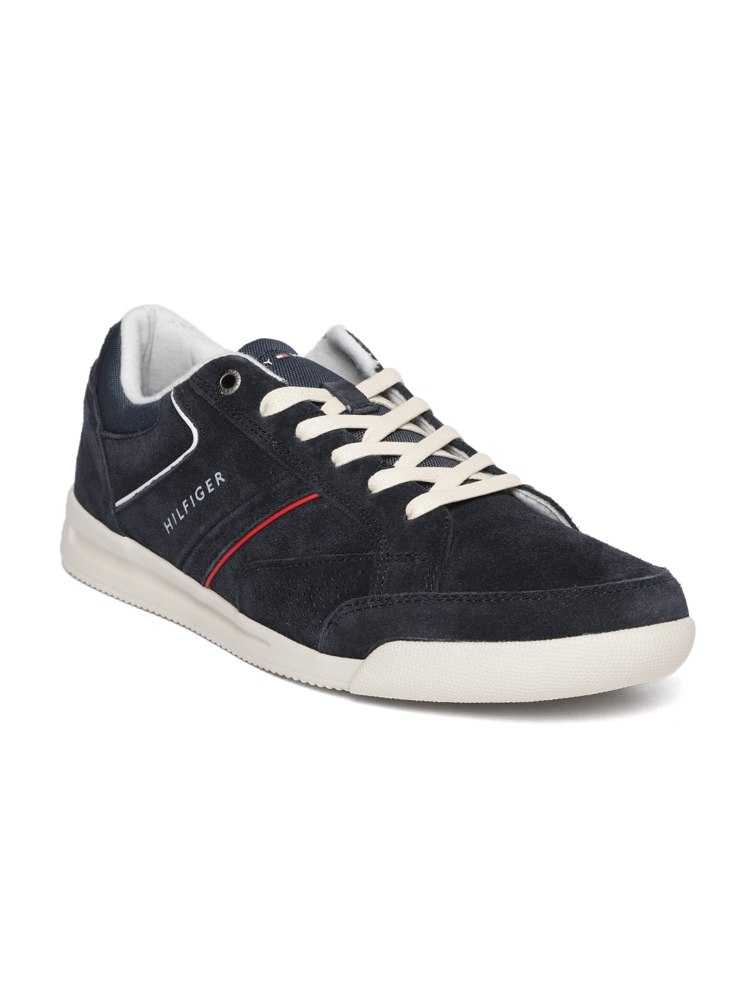 c4d83a8ce0c4 Buy Tommy Hilfiger Men Navy Blue Velvet Finish Sneakers - Casual ...