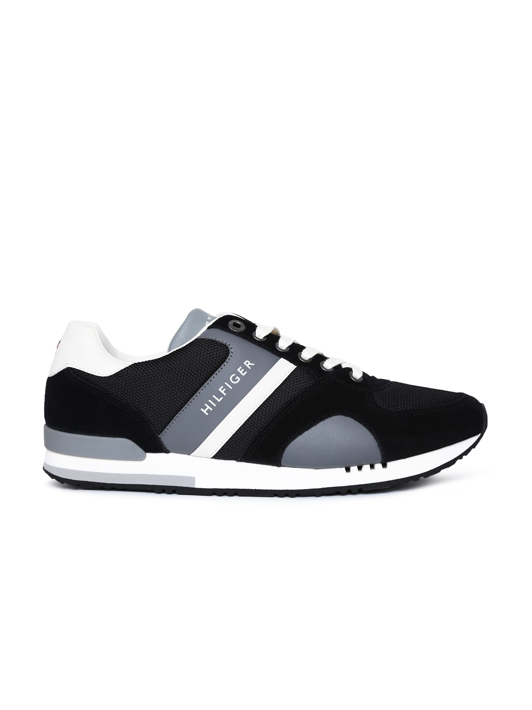 0971099ef Tommy Hilfiger Men Black   Grey New Iconic Sporty Runner Sneakers