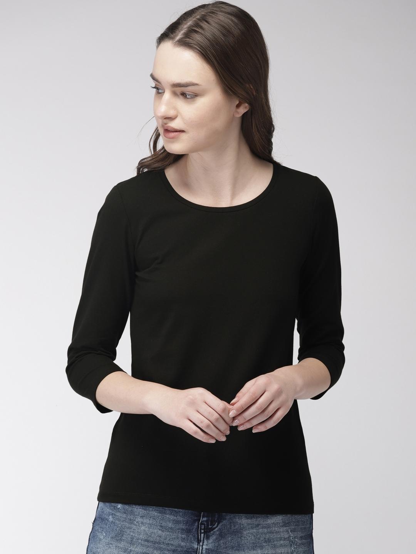 35e6d9d2 Buy Bossini Women Black Solid Top - Tops for Women 6919217 | Myntra