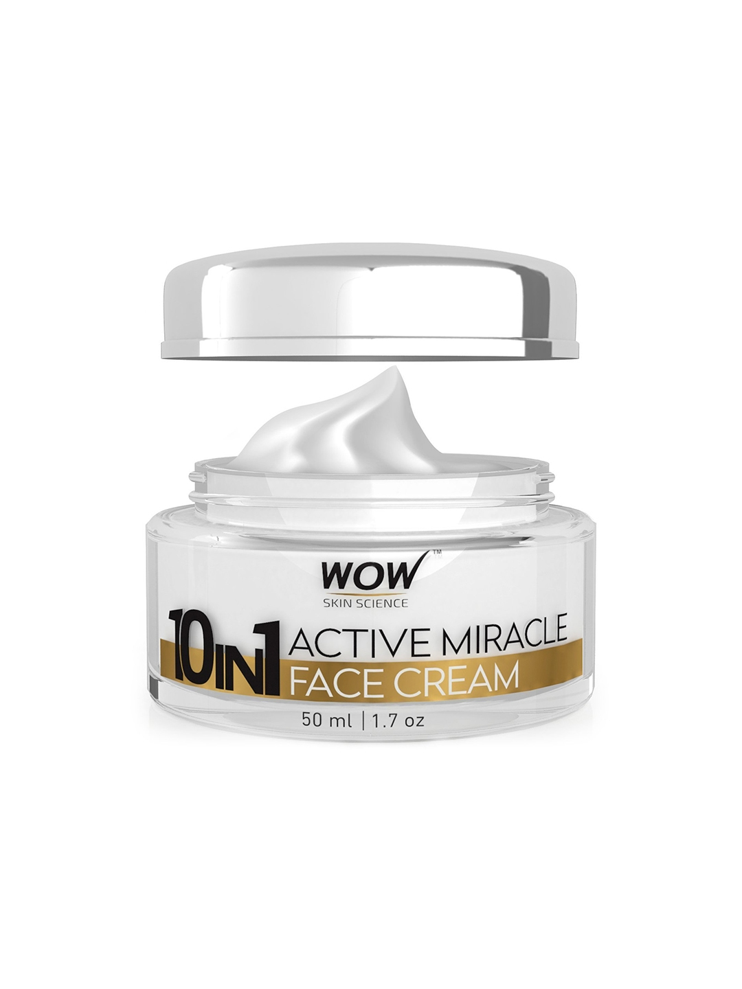 WOW Skin Science 10 in 1 Active Miracle Day Cream SPF 15 PA++   50ml WOW SKIN SCIENCE Face Moisturisers