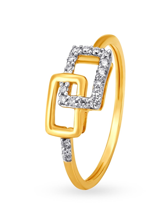 Mia by Tanishq Women 14KT Yellow Gold Diamond Finger Ring