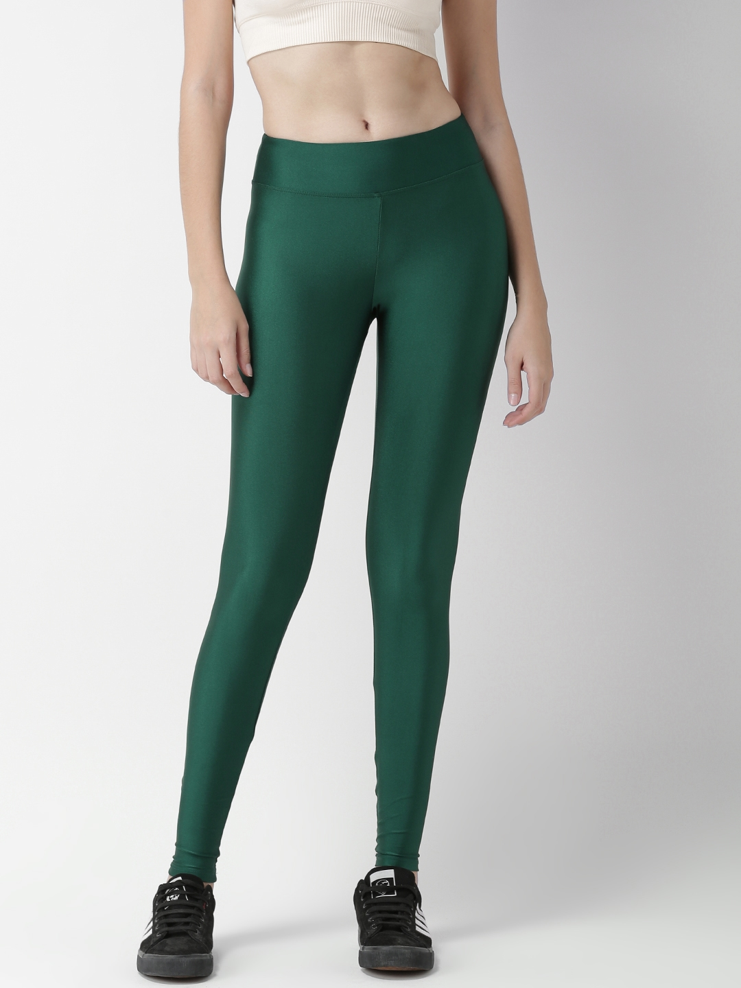 695c90b2ead6d Buy FOREVER 21 Women Green Solid Tights - Tights for Women 6934133 ...