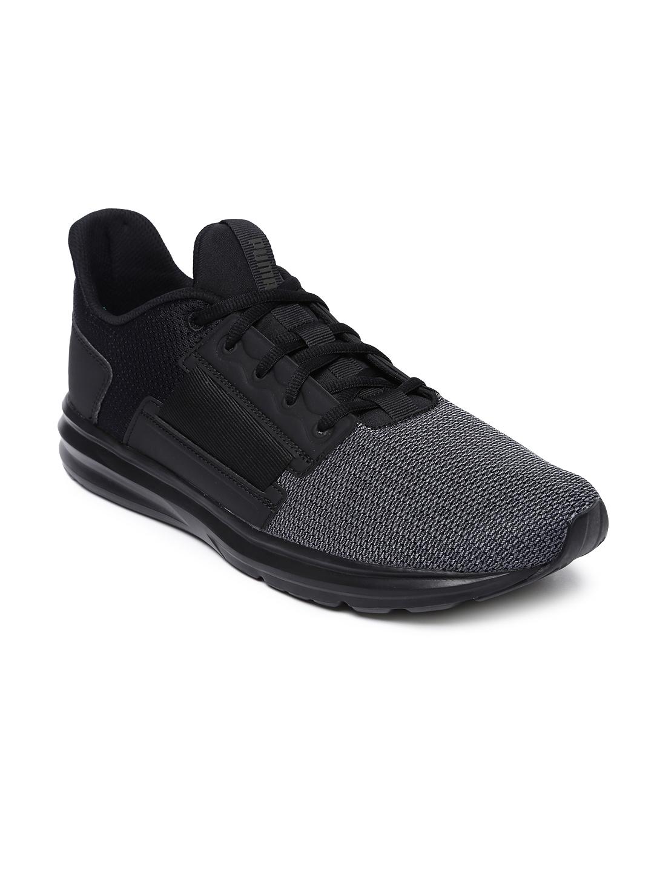 901aeb5bf0d5 Buy Puma Men Grey   Black Colourblocked Enzo Street Running Shoes ...