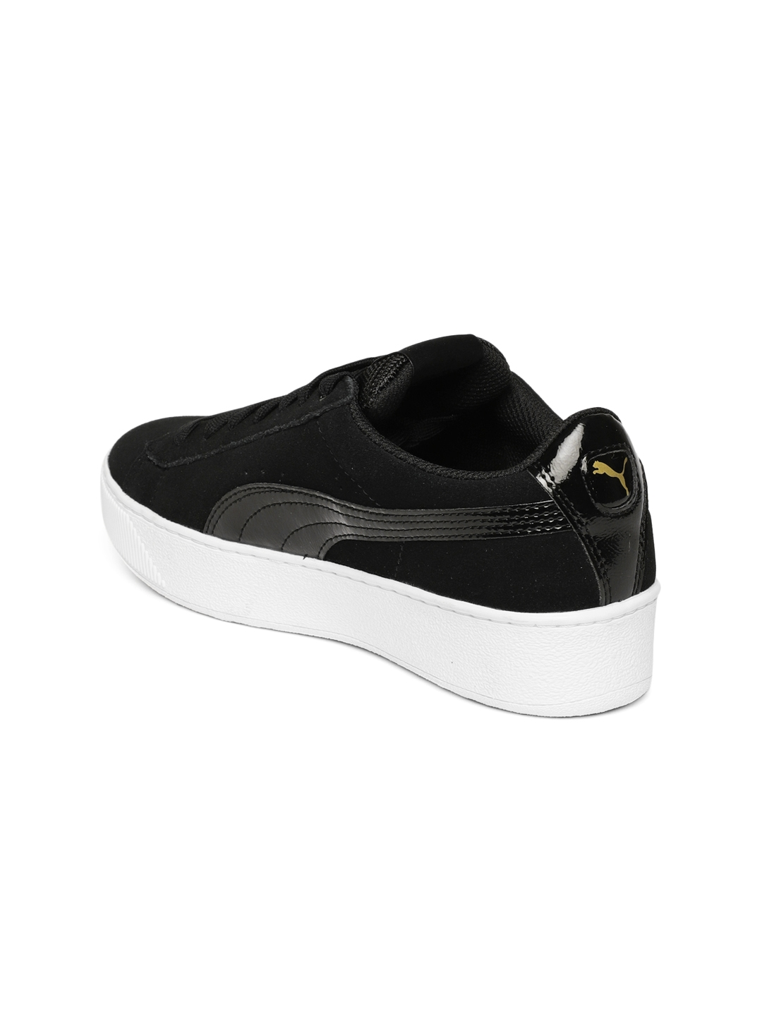 c58fee8386 Buy Puma Women Black Vikky Platform Suede Sneakers - Casual Shoes ...