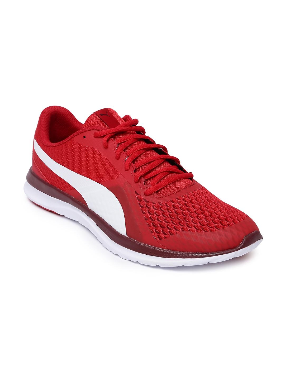 intimidad Tengo una clase de ingles cobija  Buy Puma Men Red Flex T1 Reveal Sneakers - Casual Shoes for Men 6937076 |  Myntra